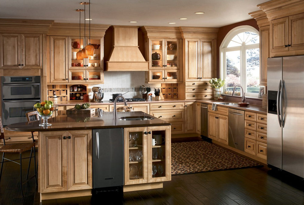 Solid Wood Kitchen Cabinets Swk 005