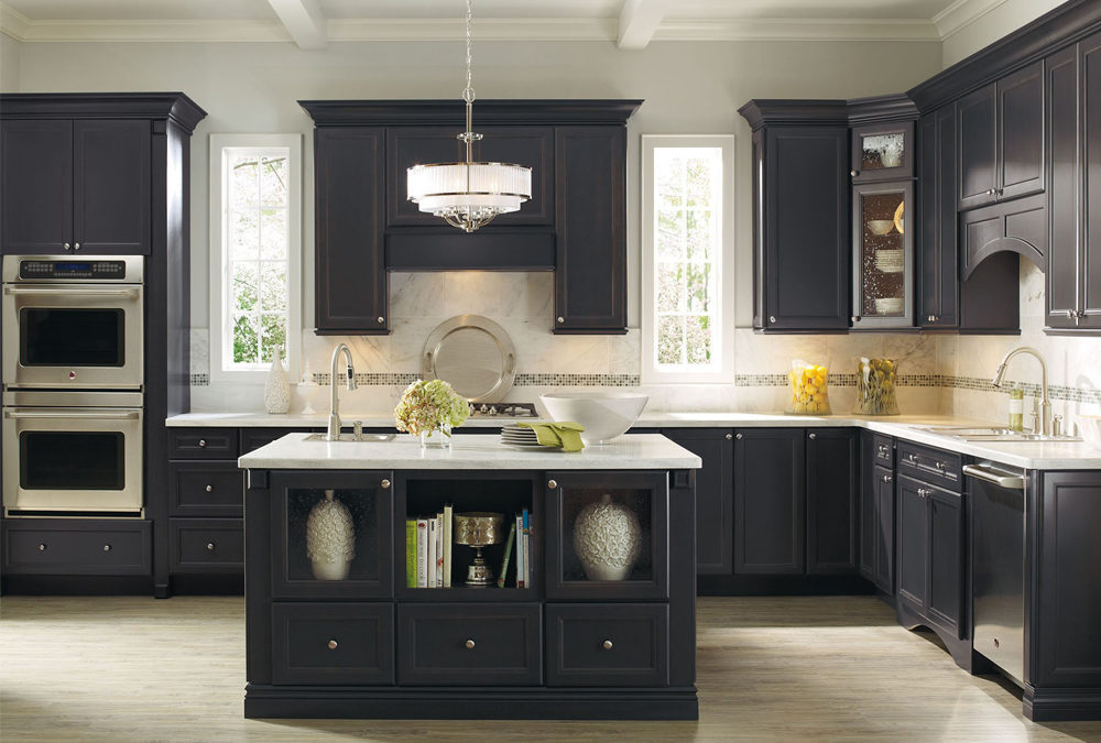 blue color design idea solid wood kitchen cabinets swk077