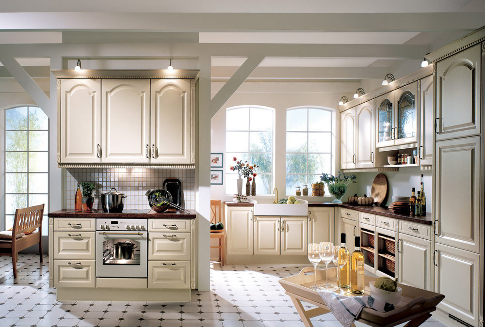 Cathedral Door Style Solid Birch Wood Kitchen Cabinets Swk 020