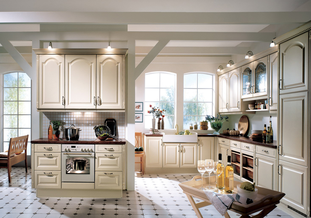 White Cathedral Kitchen Cabinets Cathedral Door Style Solid Birch Wood Kitchen Cabinets SWK 020