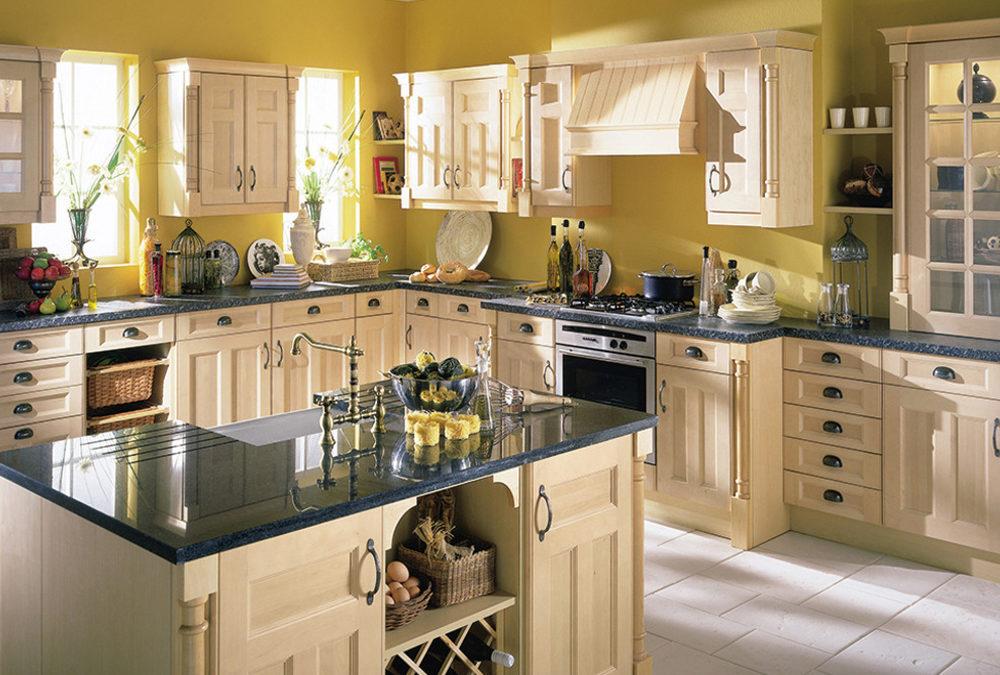 Honey Color Solid Birch Shaker Kitchen Cabinet SWK-007 ...