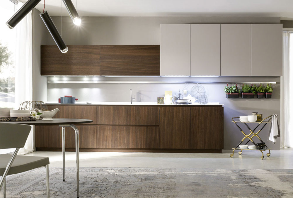 Kitchen Cabinets Mohagony Wooden Laminate