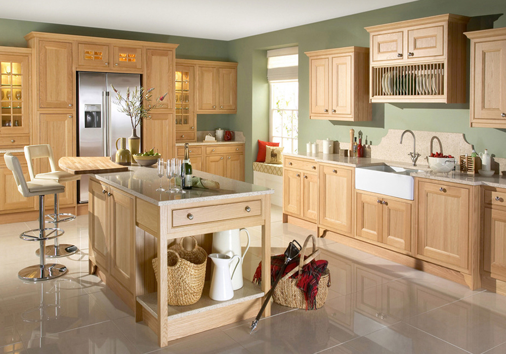 Solid Wood Shaker Kitchen Cabinets SWK-066 | Houlive solid ...