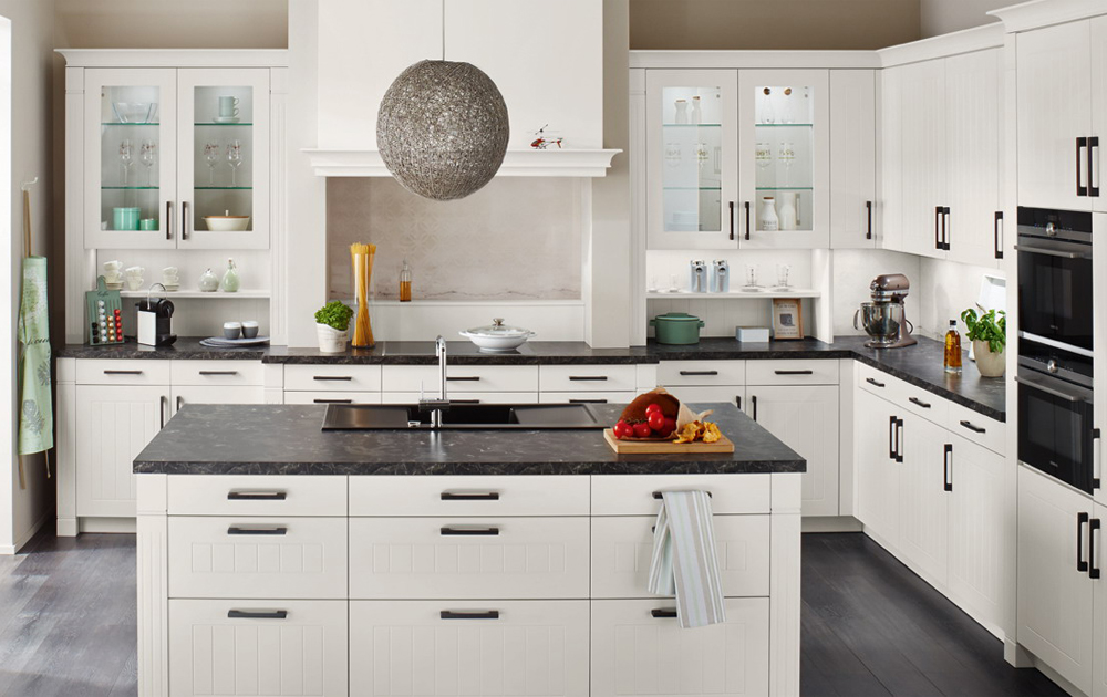 Pvc Thermofoil White Modern Style Kitchen Cabinets Pvck 009 Houlive Solid Wood Kitchen Cabinets