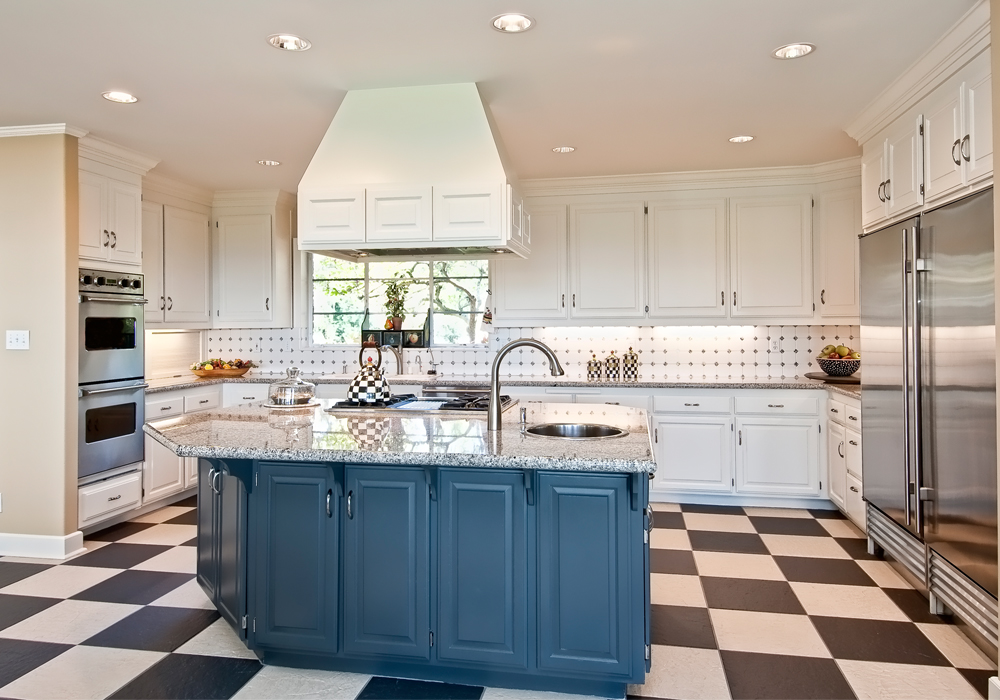 Blue Island Design Solid Wood Raised Door Kitchen Cabinets ...