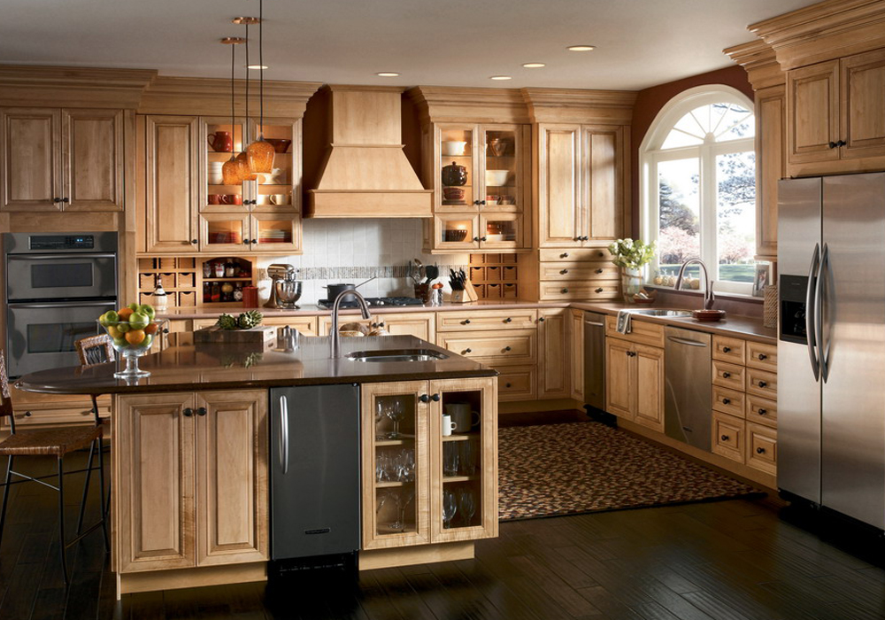 American Traditional Solid Wood Kitchen Cabinets SWK-005 ...