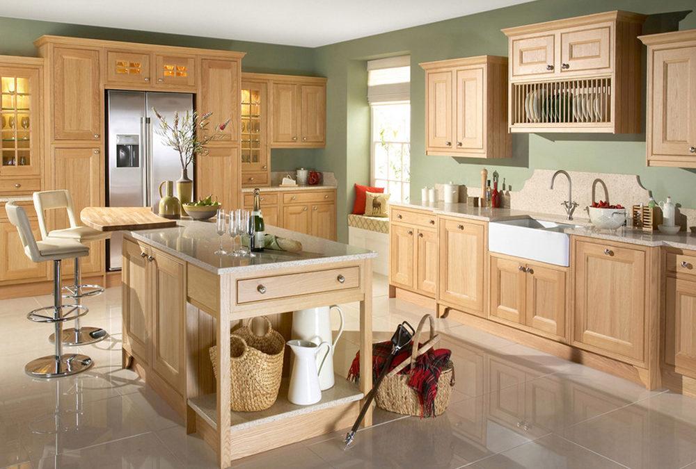 Wood Feeling Solid Birch Wood Shaker Style Kitchen ...