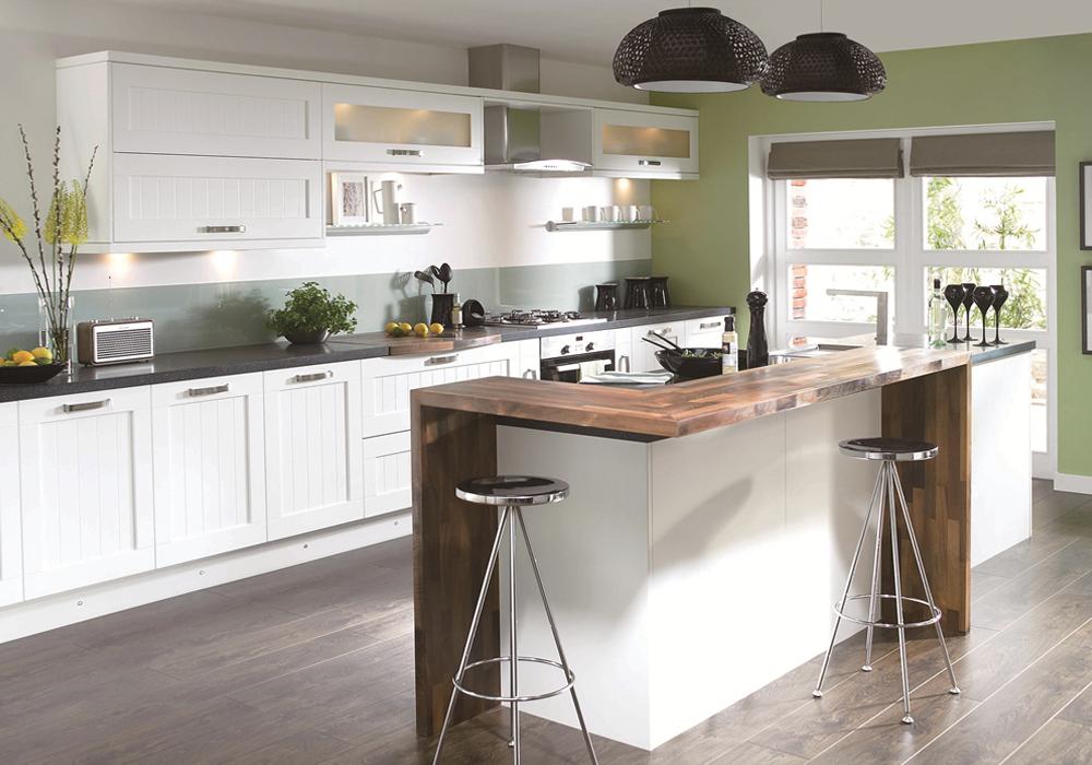 modern design pvc thermofoil white color kitchen cabinets