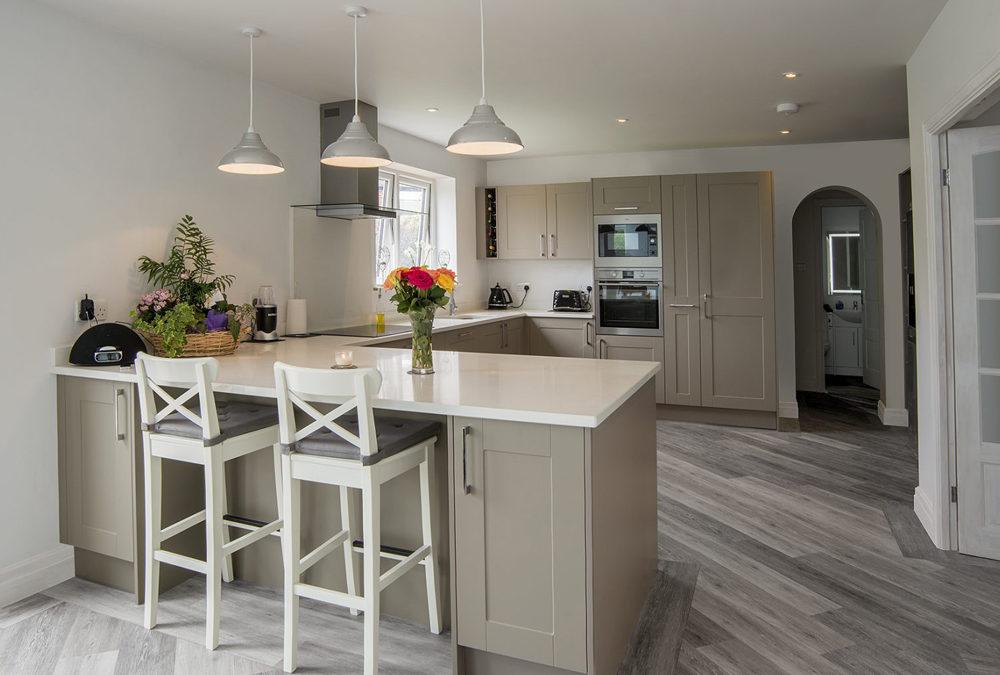 Shaker Grey Shaker Maple Solid Wood Kitchen Cabinets SWK ...