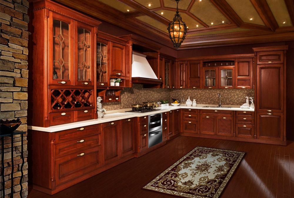 Solid Birch wood Raised Arch Door Kitchen Cabinets SWK-011 ...